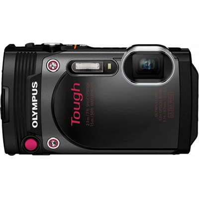 TG-870 Tough Waterproof 16MP Black Digital Camera with AF Lock and 3` LCD