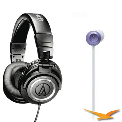 ATH-M50 Pro Studio Monitor and ATH-CKF300 FashionFidelity Bloom Headphones Kit