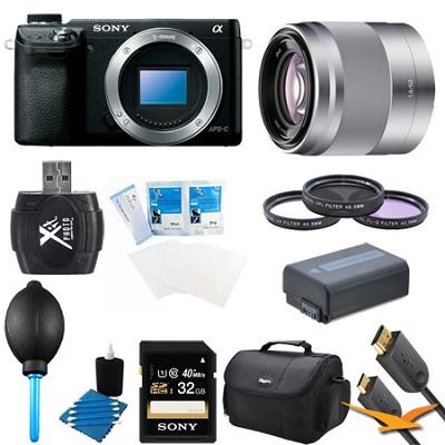 Alpha NEX-6 16.1 MP Digital Camera (Black Body Only) + 50mm f1.8 Bundle