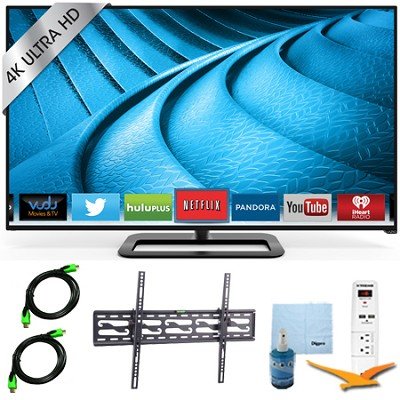 P552ui-B2 - 55` 240Hz 4K Ultra HD LED Smart TV Plus Tilt Mount & Hook-Up Bundle