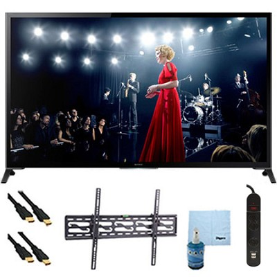 65` XBR65X950B 4K UHD 3D Smart TV Motionflow XR 960 Tilt Mount & Hook-Up Bundle