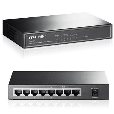 8-Port 10/100Mbps Desktop Switch with 4-Port PoE - TL-SF1008P