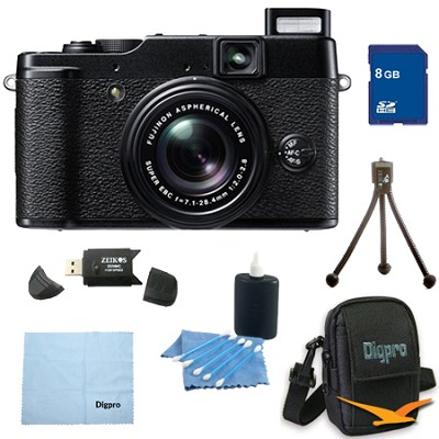 8GB Bundle X10 12 MP EXR CMOS Digital Camera with f2.0-f2.8 4x Optical Zoom Lens