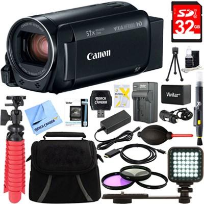 VIXIA HF R800 Full HD Black Camcorder + 32GB Card and Accessory Bundle