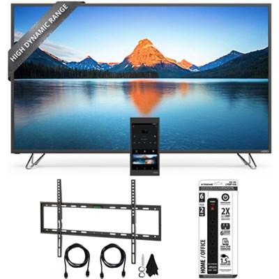 M65-D0 - 65-Inch 4K SmartCast M-Series Ultra HD HDR LED TV w/ Wall Mount Bundle
