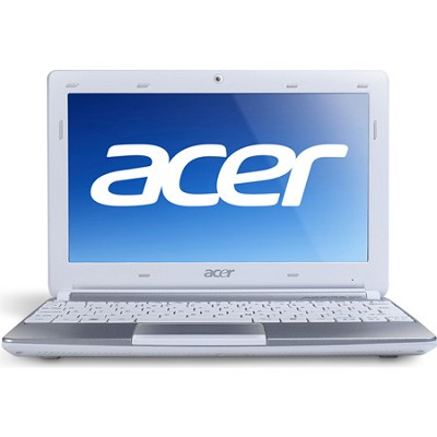 Aspire One AOD257-1663 10.1` Netbook PC (White) - Intel Atom Dual-Core N570 Proc