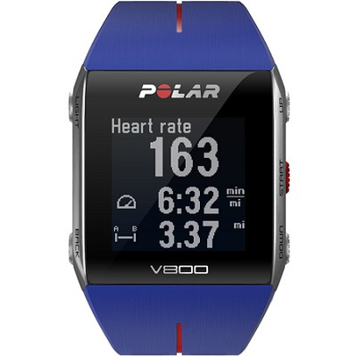 V800 GPS Sports Watch, Blue/Red (90050555)