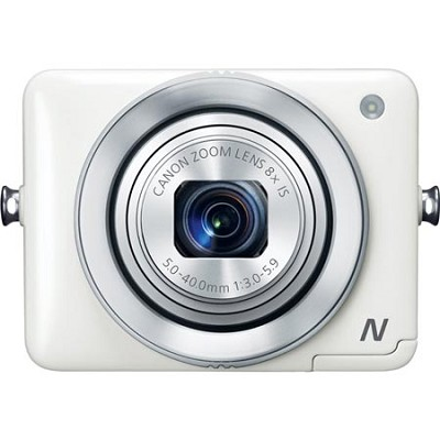 PowerShot N White 12.1MP Digital Camera with WiFi and Mobile Device Connection