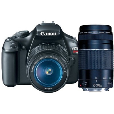 EOS Rebel T3 SLR Digital Camera w/ 18-55mm & 75-300mm - Bundle Deal