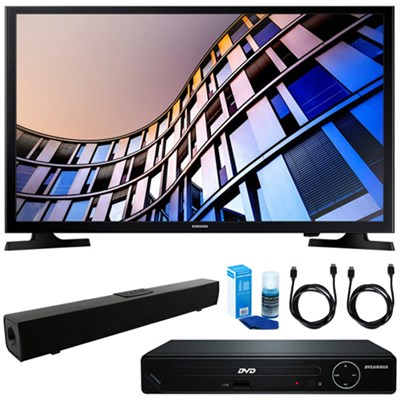 32` 720p Smart LED TV (2017) w/ HDMI DVD Player & Sound Bar Bundle