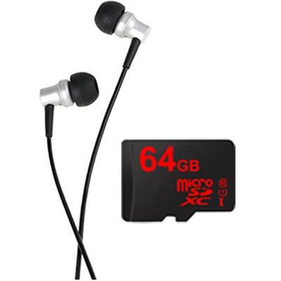 RE-400 In-Ear Headphones w/ Lexar 64GB MicroSDXC UHS-1 Memory Card Bundle