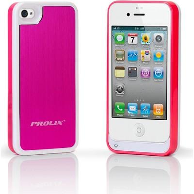 Prolix Power iPhone 4/4S Protective External Battery Case - Aluminum (Rose)