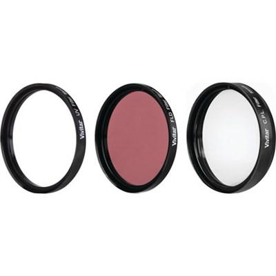 95mm UV, Polarizer & FLD Deluxe Filter kit (set of 3 + carrying case)
