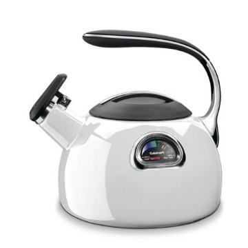 PerfecTemp Porcelain Enameled Teakettle - White