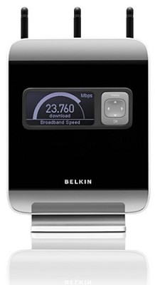 N1 Vision 4 port wireless router W/ Lcd display