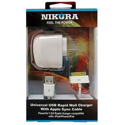 Ipod/ipad/Iphone Cell Phone USB Wall Charger with 30-pin Connector