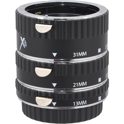 Auto Focus Macro Extension Tube for Canon (13mm, 21mm & 31mm) Black - XTETC