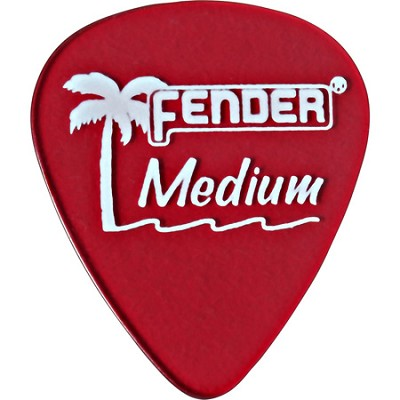 351 California Clears Guitar Picks - 12 Pack - Candy Apple Red - Medium