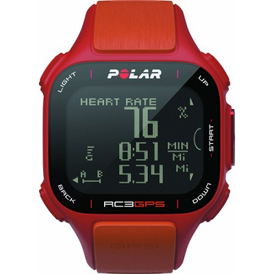 RC3 GPS Watch with Heart Rate Monitor - Red/Orange (90047386)