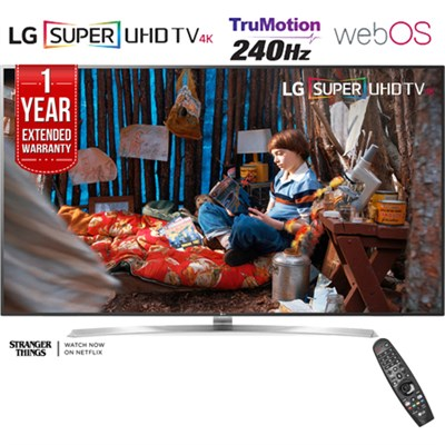SUPER UHD 75` 4K HDR Smart LED TV (2017) + 1 Year Extended Warranty -Refurbished