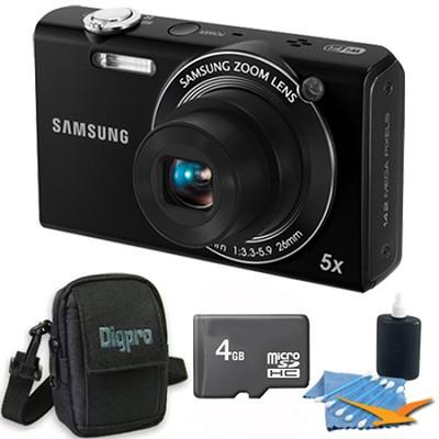 SH100 Black Digital Camera 4 GB Bundle