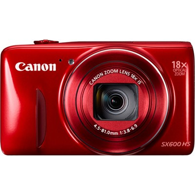 PowerShot SX600 HS 16.1MP 18x Zoom 3-inch LCD - Red