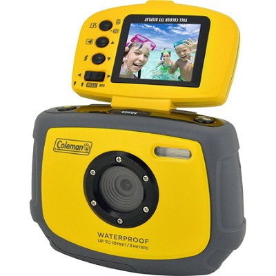Xtreme C4WP 12 MP Waterproof Digital Camera with flip-up screen (Yellow)