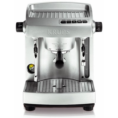 XP618050 Full Stainless Steel Twin Thermo Block Espresso Machine - Silver