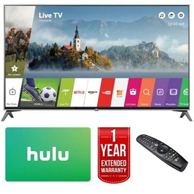 65` UHD 4K HDR Smart LED TV (2017 Model) w/ Hulu Card + Extended Warranty