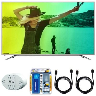 Aquos N7000 43` Class 4K Ultra WiFi Smart LED HDTV w/ Hook up Bundle