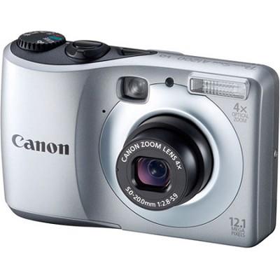 PowerShot A1200 12MP Silver Digital Camera w/ 4x Zoom & 720p HD Video