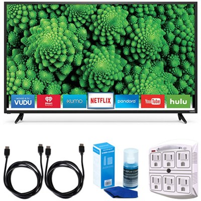 D48f-E0 D-Series 48` Full Array LED Smart TV Accessory Bundle