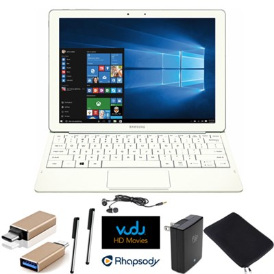 Galaxy TabPro S 12` 128GB (Wi-Fi) White Streaming Essentials Bundle
