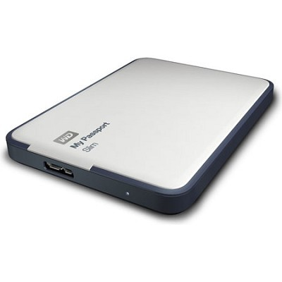 My Passport Slim 1TB Portable Metal Ext.Drive USB 3.0 w/ Cloud Backup - OPEN BOX
