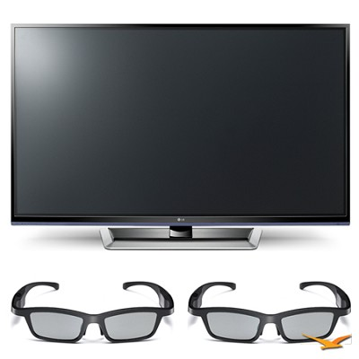 50PM4700 50` 720p 3D Slim Bezel Plasma Smart HD TV and 3D Glasses Bundle