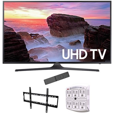 65` 4K Ultra HD Smart LED TV 2017 Model with Wall Mount Bundle