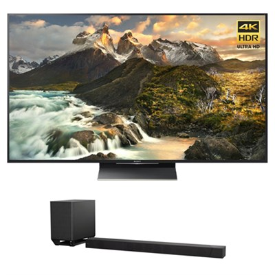 XBR-65Z9D - 65-inch 4K UHD LED TV w/ Sony 7.1.2ch Dolby Atmos Sound Bar