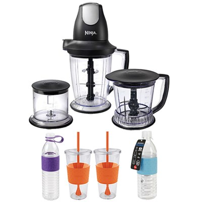 Ninja Master Prep Pro Food & Drink Mixer, Black w/ Copco Hydra Bottles Bundle