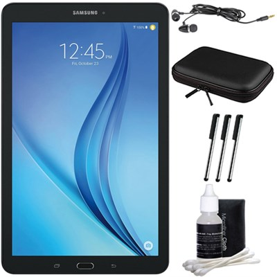 Galaxy Tab E 9.6` 16GB Tablet PC (Wi-Fi) - Black Accessory Bundle