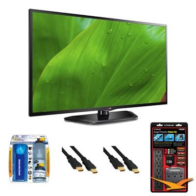 32LN5700 32-Inch 1080p 120Hz Dual Core LED Smart TV Value Bundle