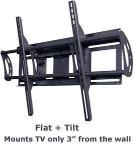 Flat + Tilt Smart Mount for select X-Large Flat Panel TVs (Black)