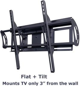 Flat + Tilt Smart Mount for select X-Large Flat Panel TVs (Black)