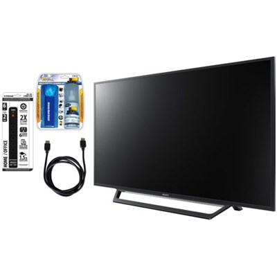 KDL-55W650D 55-Inch Full HD 1080p TV with Built-in Wi-Fi & Accessory Bundle