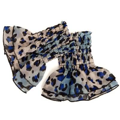 Blue Leopard Ruffle - One Size