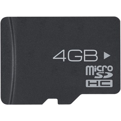 4GB High-Speed MicroSD Memory Card & Adapter