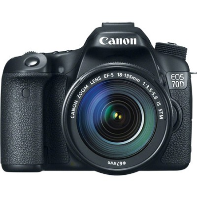 EOS 70D 20.2 MP CMOS Digital SLR Camera and EF-S 18-135mm F3.5-5.6 IS STM Kit