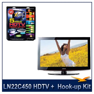 LN22C450 - 720p HDTV + High-performance HDTV Hook-up & Maintenance Kit
