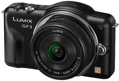 Lumix DMC-GF3KK 12 MP Micro 4/3 Compact System Camera 3-Inch Touchscreen - Black