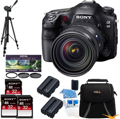 Alpha SLT-A99V 24.3 MP SLR Digital Camera + Sony 24-70 f2.8 Lens