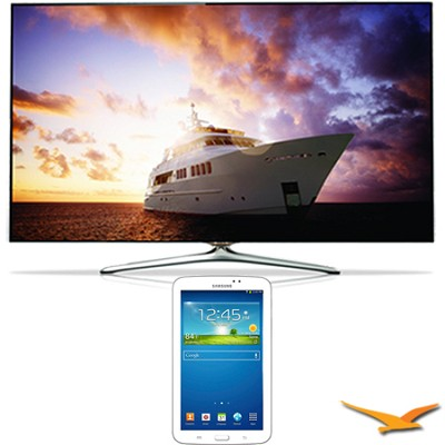 UN55F7500 - 55` 1080p 240hz 3D Smart Wifi LED HDTV - 7-Inch Galaxy Tab 3 Bundle